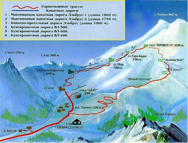 Схемы горнолыжных трасс